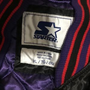 STARTER Jackets   Coats - Toronto Raptors satin Starter Jacket sz XL NWOT bc85de105